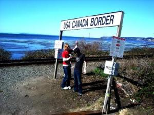 USA and Canada Border