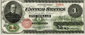1862 Dollar Bill