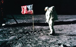 American Flag on Moon